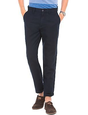 U.S. Polo Assn. Slim Fit Cotton Linen Trousers