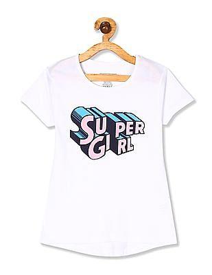 Cherokee Girls Short Sleeve Graphic T-Shirt