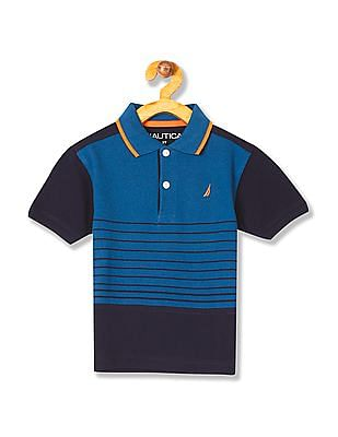 9a08208530 Buy Boys Boys Short Sleeve Stripe Polo Shirt online at NNNOW.com