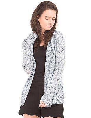 U.S. Polo Assn. Women Patterned Knit Shrug