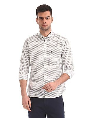 U.S. Polo Assn. Regular Fit Button Print Shirt