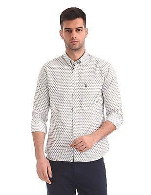 U.S. Polo Assn. Regular Fit Button Print Shirt