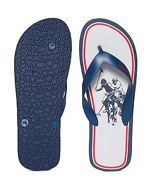 U.S. Polo Assn. V-Strap Printed Flip Flops