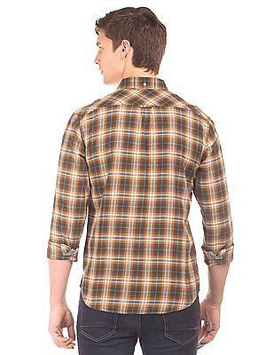 Aeropostale Button Down Collar Flannel Check Shirt