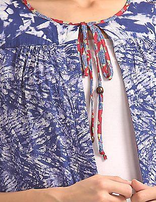 Bronz Open Front Printed Shrug