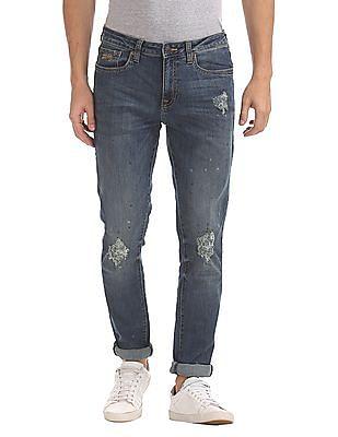Aeropostale Super Skinny Fit Splatter Print Jeans