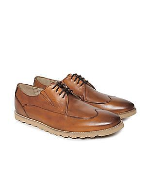 Arrow Sports Wingtip Leather Derby Shoes