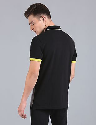 GAP Bird's Eye Color Block Polo With Contrast Tipping And Cuff