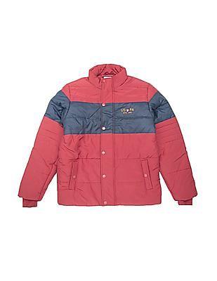 U.S. Polo Assn. Kids Boys Padded Colour Block Jacket