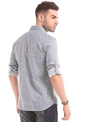 Ed Hardy Anchor Print Slim Fit Shirt