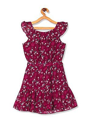 The Children's Place Girls Off-The-Shoulder Printed Dress