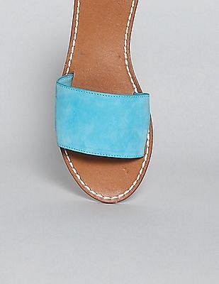 GAP Women Blue Flat Slide Sandals