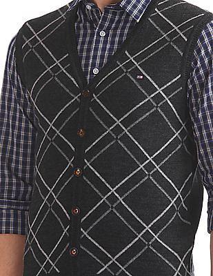 Arrow Sports Regular Fit Patterned Cardigan