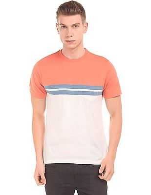 2ac7be31 Buy Men Colour Block Regular Fit T-Shirt online at NNNOW.com