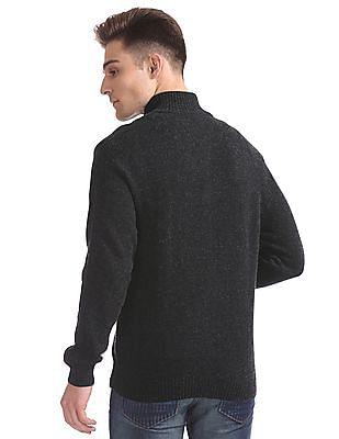 Ed Hardy Lambs Wool Zip Up Sweater