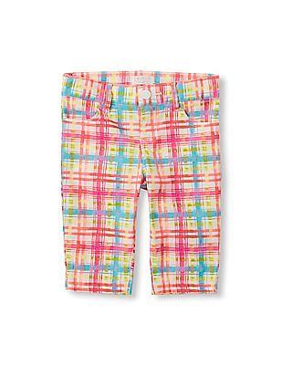 The Children's Place Girls Plaid Skimmer Shorts