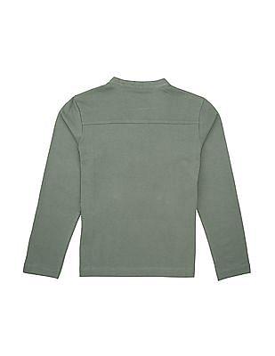U.S. Polo Assn. Kids Boys Long Sleeve Henley T-Shirt