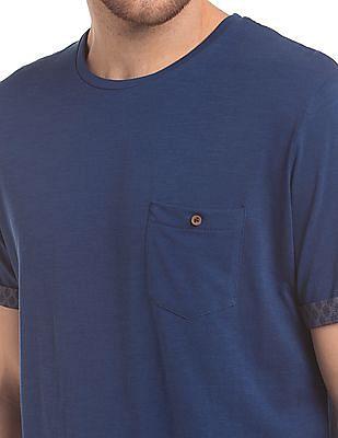 True Blue Slim Fit Slub T-Shirt