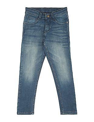 FM Boys Boys Mid Rise Stone Wash Jeans