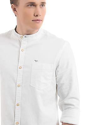 Flying Machine Slim Fit Mandarin Collar Shirt