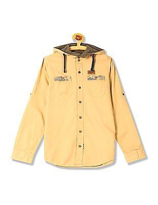 U.S. Polo Assn. Kids Boys Standard Fit Hooded Shirt