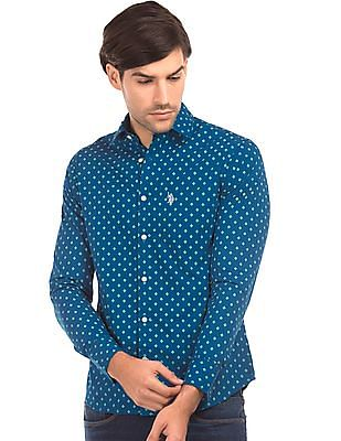 U.S. Polo Assn. Printed Tailored Fit Shirt