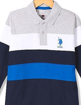 U.S. Polo Assn. Kids Boys Regular Fit Striped Polo Shirt