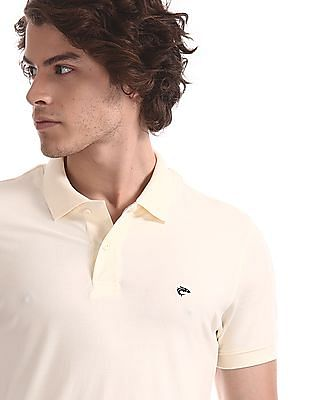 Ruggers White Solid Pique Polo Shirt