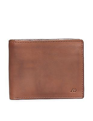 Arrow Sports Brown Leather Bi-Fold Wallet