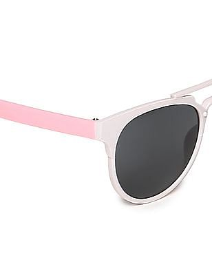 Unlimited Girls Round Frame Colour Block Sunglasses