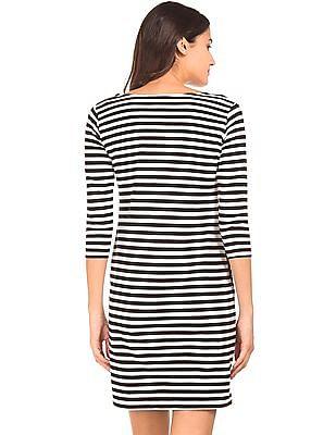 Cherokee Striped T-Shirt Dress