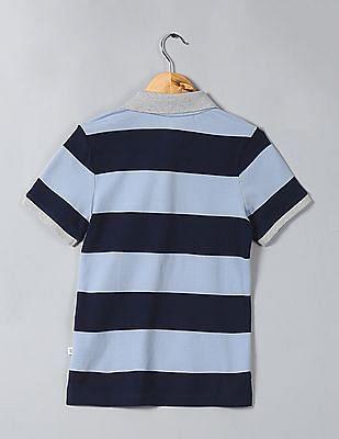 GAP Boys Striped Pique Polo Shirt