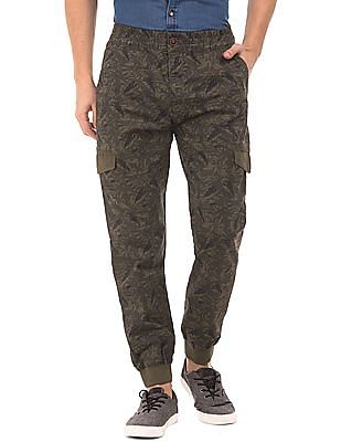U.S. Polo Assn. Denim Co. Tropical Print Cargo Joggers