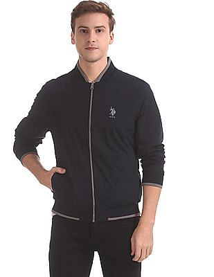 U.S. Polo Assn. Navy And Grey Reversible Bomber Jacket