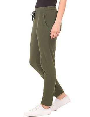 SUGR Drawstring Waist Slub Knit Lounge Pants