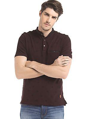 True Blue Regular Fit Printed Polo T-Shirt