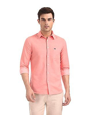 Arrow Sports Slim Fit Solid Shirt
