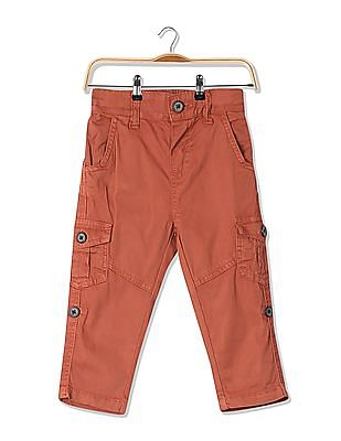 Donuts Boys Flat Front Solid Trousers