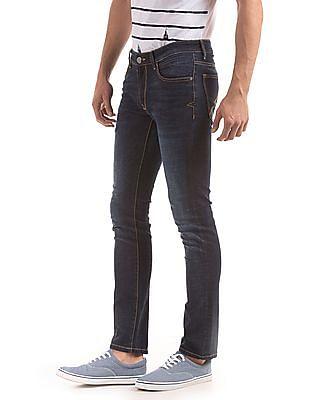 Arrow Sports Mid Rise Stone Wash Jeans