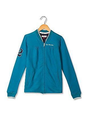 U.S. Polo Assn. Kids Girls Standard Fit Zip Up Sweatshirt
