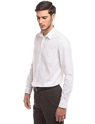 Arrow Self Pattern Slim Fit Shirt