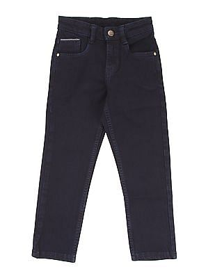 FM Boys Boys Solid Skinny Fit Jeans