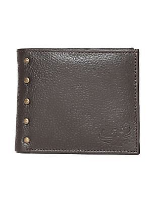 Flying Machine Brown Studded Bi Fold Wallet