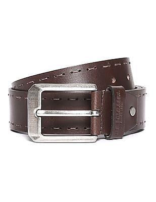 U.S. Polo Assn. Stitched Leather Belt