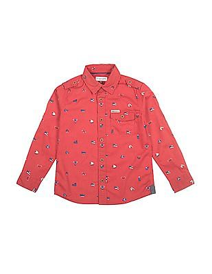 U.S. Polo Assn. Kids Boys Printed Regular Fit Shirt