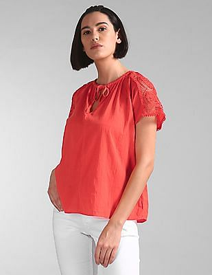 GAP Lace Insert Solid Top