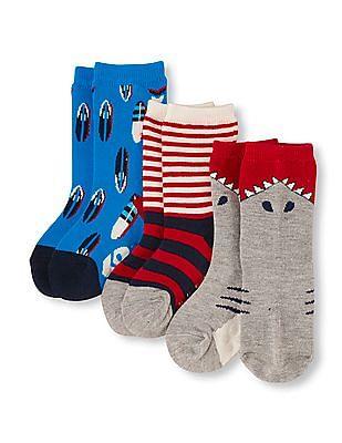 The Children's Place Toddler Boy Shark Crew Socks 3-Pack