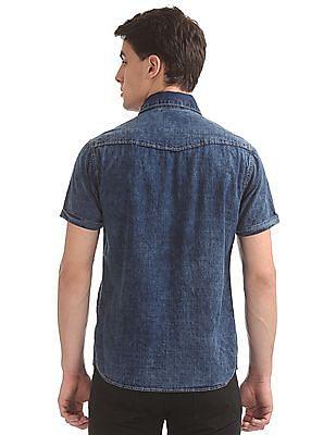 Cherokee Washed Slim Fit Shirt