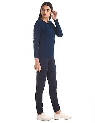 Cherokee Blue Slim Fit Whiskered Jeans