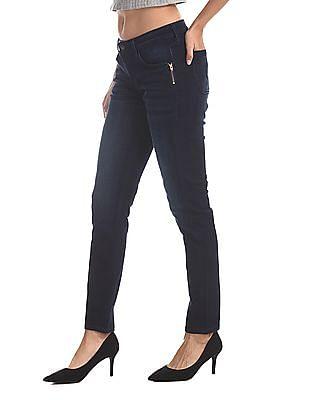 Cherokee Blue Slim Fit Dark Wash Boomerang Jeans